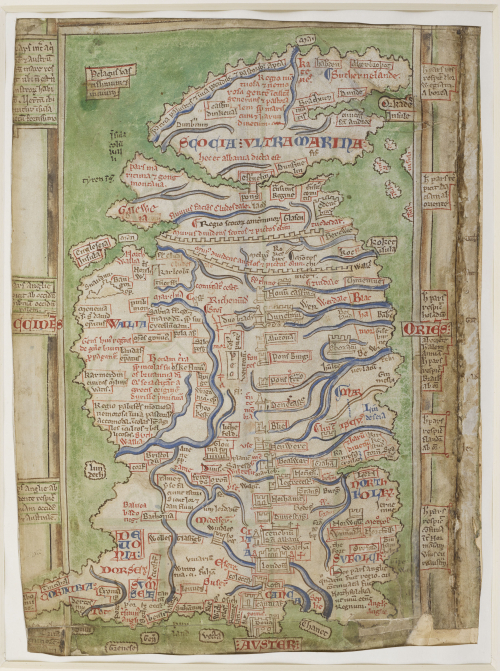 Matthew Paris Map of Britain (Cotton MS Claudius D VI 1)