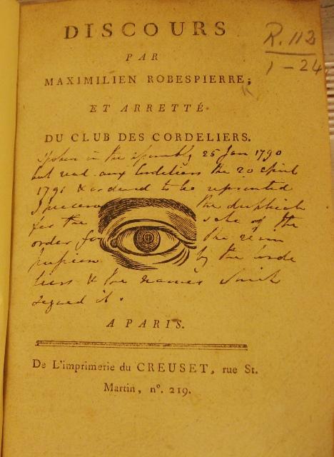 Discours par Robespierre R.112