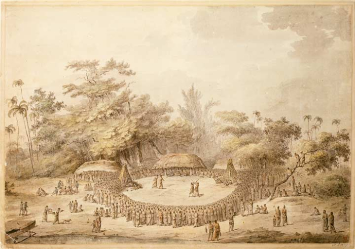 'Entertainments at Lifuka on the reception of Captain Cook'