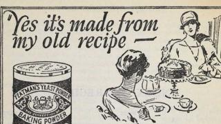 Advert for baking powder