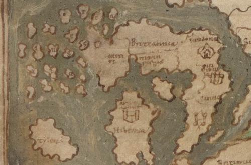 Cotton MS Tiberius B V!1  f. 56v British Isles