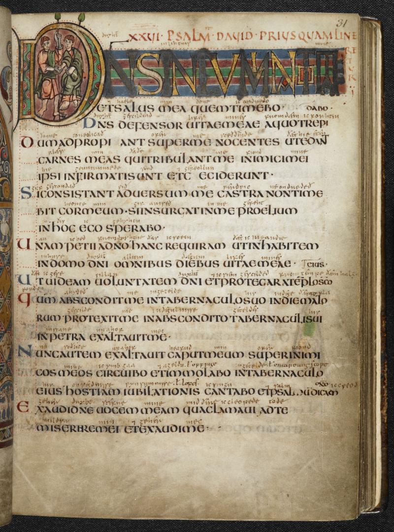 Vespasian Psalter (Cotton MS Vespasian A I  f31r)