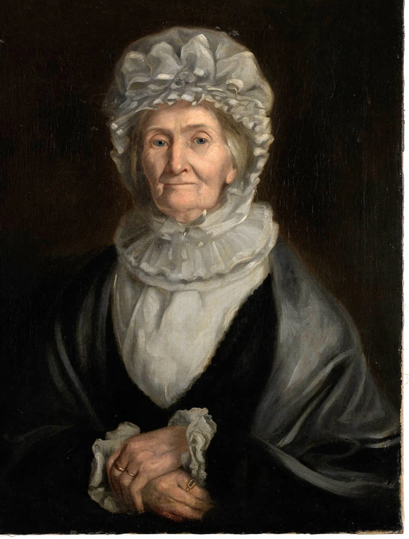 Portrait said to be Elizabeth Cook aged 81