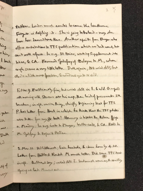 Handwritten diary entry showing insulting names for Queen Victoria