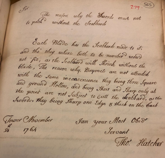 Letter from Thomas Hatcher to Robert James 24 Nov 1764