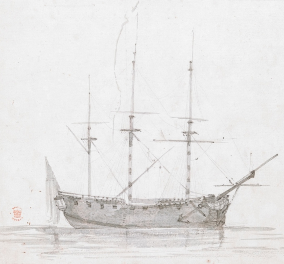 Drawing of the Resolution made during Cook's Third Voyage