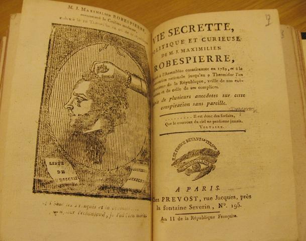 Robespierre Vie secrette F.R.64.(17.)