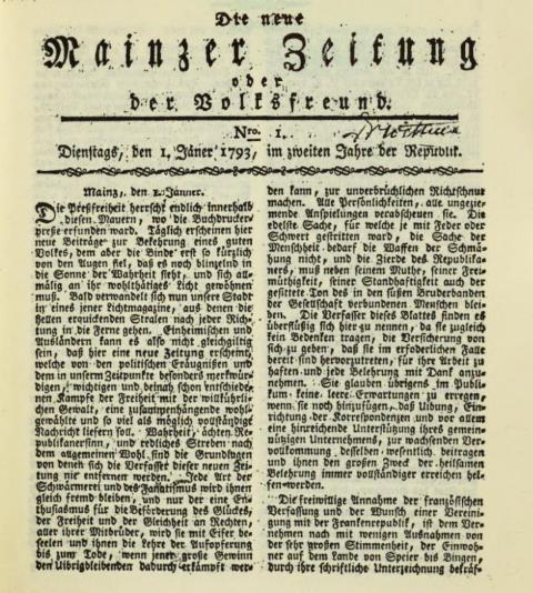 Forster Neue Mainzer Zeitung