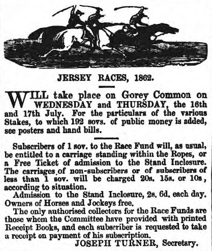 Jersey Races 1862