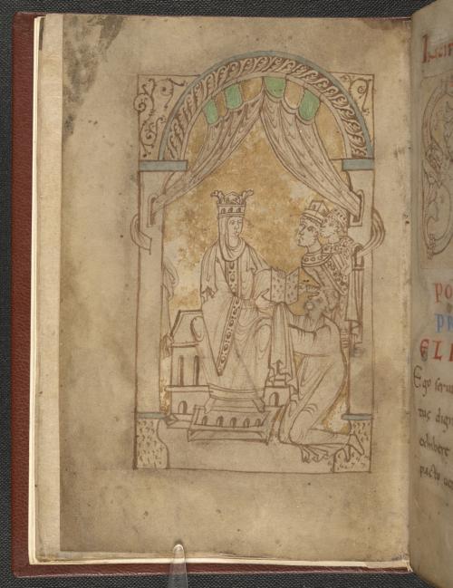 Miniature of Queen Emma from the Encomium Emmae Reginae