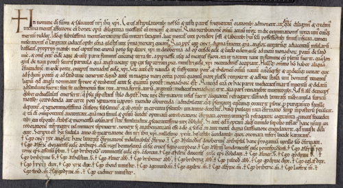 A 12th-century copy of a charter issued by King Cnut of England.