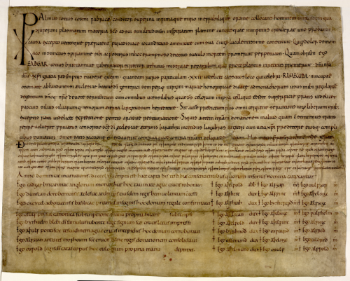 A 10th-century charter issued by King Edgar of England.