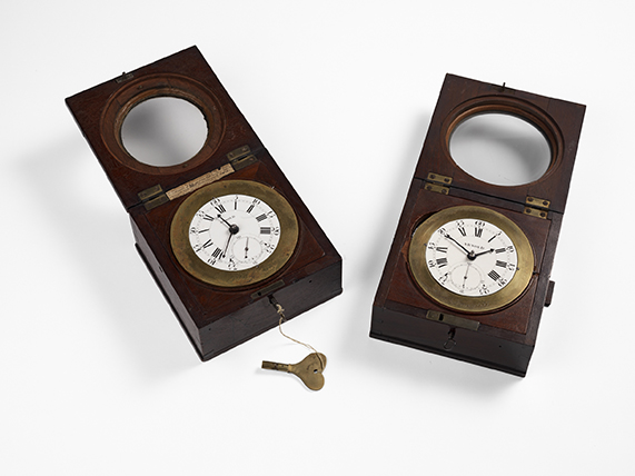 Copies of John Harrison's chronometer made by John Arnold. ©The Royal Society