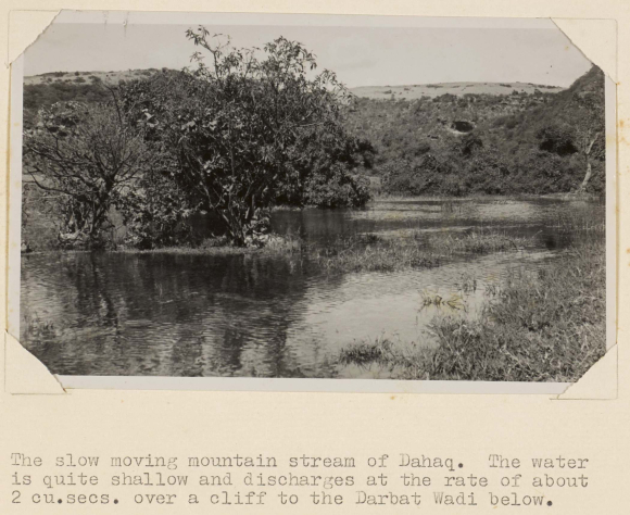 Photograph of Dahaq, 1948, showing a mountain stream