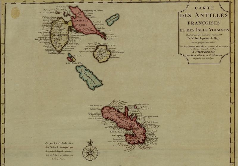 French Caribbean Maps K.Top.123.65 detail