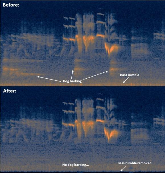 Spectral repair example