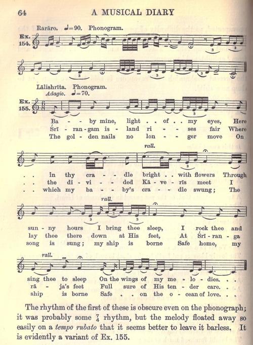 Lullabies transcription (Fox Strangways C72-872)
