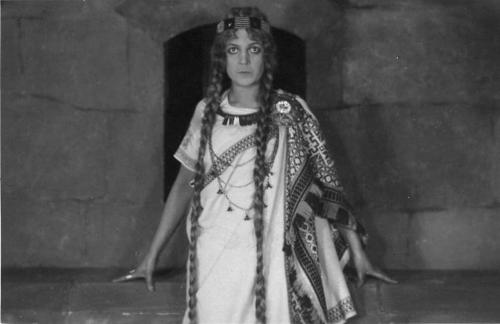 Still from the Latvian film 'Lāčplēsis' showing actress Lilita Berzina as the legendary heroine Laimdota