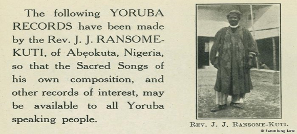 Extract from a 1922 editorial on the music of Josiah Jesse Ransome-Kuti
