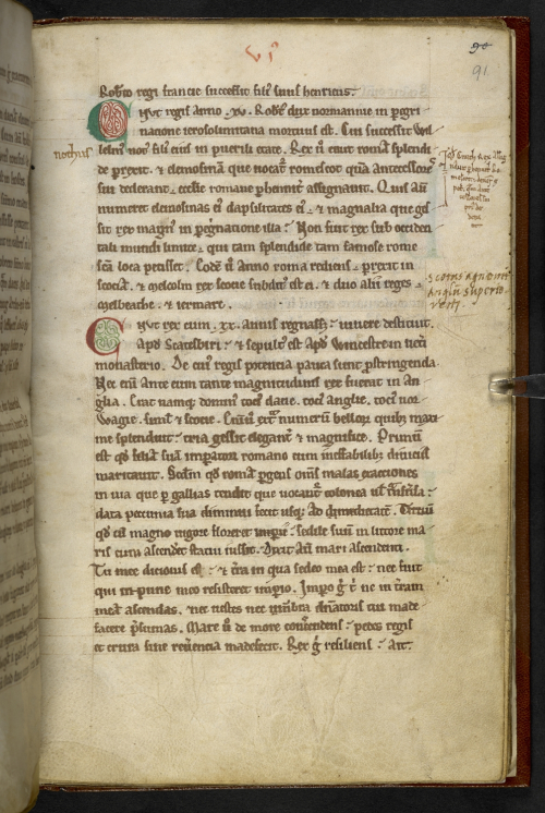 Account of Cnut and the sea in Henry of Huntingdon's Historia Anglorum
