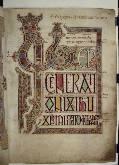 Lindisfarne Gospels p.2 (c) British Library Board