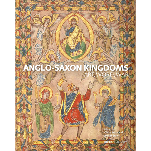 The front cover of the catalogue for Anglo-Saxon Kingdoms: Art, Word, War