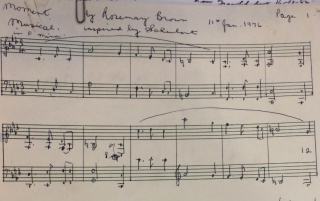 Opening bars of Brown's Moments Musicaux inspired by Schubert