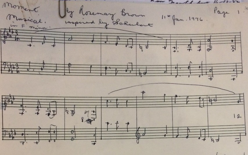 Music from beyond: the Rosemary Brown Collection - Music blog