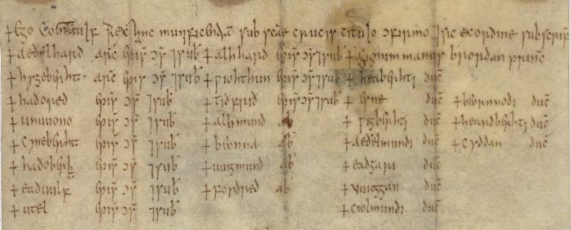 Cotton Augustus II 97 witness list