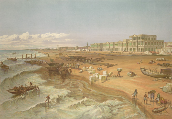 Madras waterfront 1867