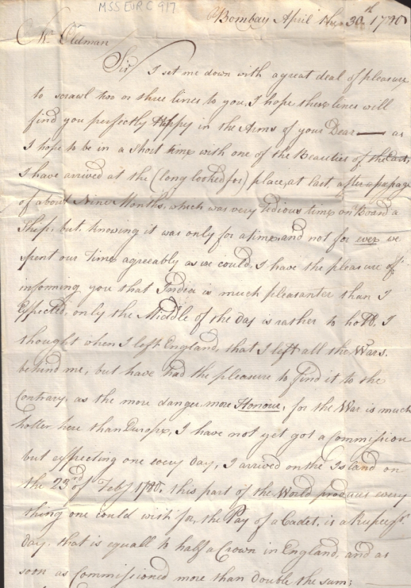 Letter from William Lambert to Jonathan Oldman