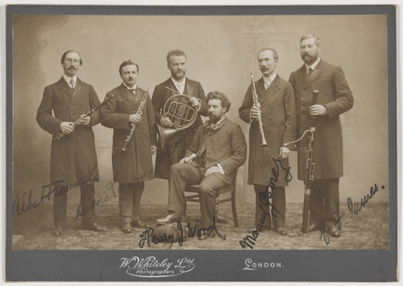 Sir Henry Wood with his wind quintet