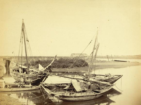 Native boats at Tannah