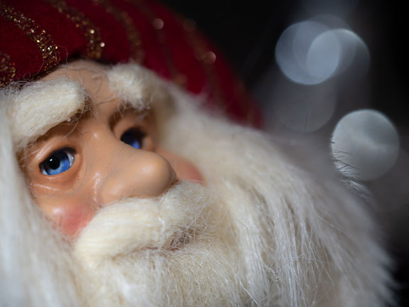 Photograph of a Father Christmas doll