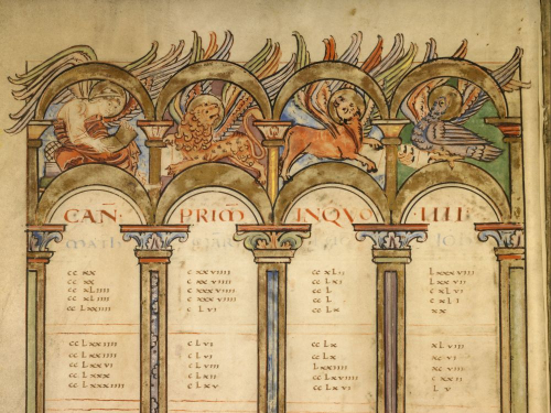 Canon table in the Boulogne Gospels