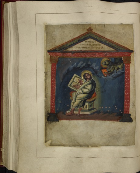 Portrait of the evangelist John in the Coronation Gospels