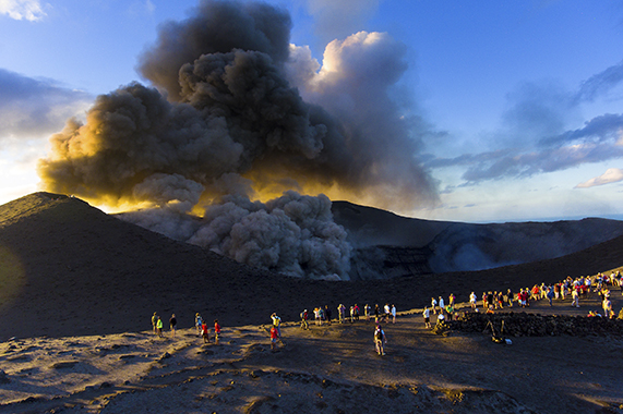 Mount Yasur at Tanna, photograph by Fred Michel