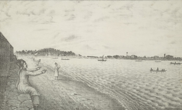 View of Colaba seafront 1826