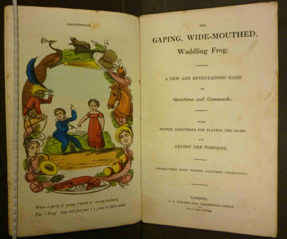 Title page of The Gaping, wide-mouthed, waddling frog