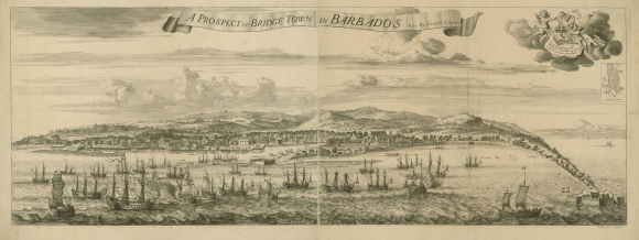 Bridgetown – engraving by Samuel Cope