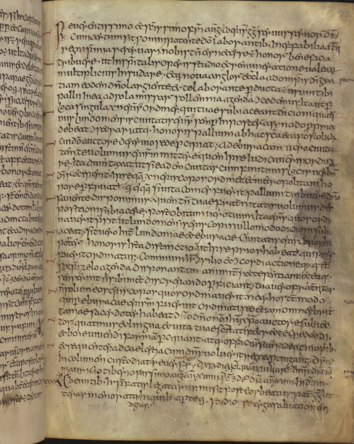 A text page from the Moore Bede