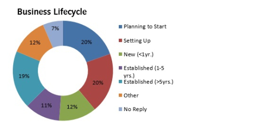Infographic of Business Lifecycle -Sheffield
