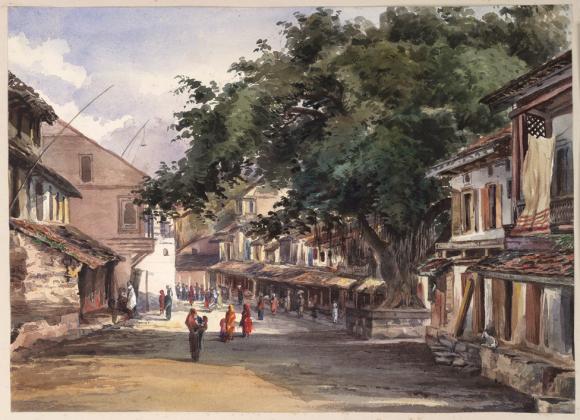 Street scene in Poona by John Frederick Lester 1871