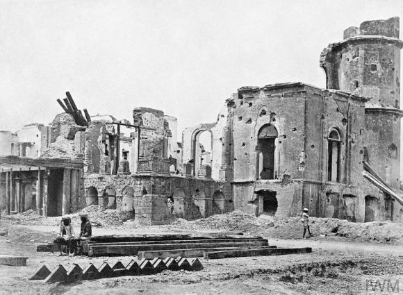Aftermath of the Siege of Lucknow  - ruined buildings