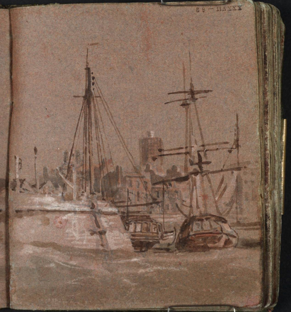 Turner's Margate harbour from the sea 1786-87