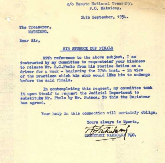 Letter dating 24 September 1954.