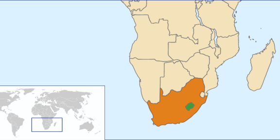 Lesotho_South_Africa_Locator