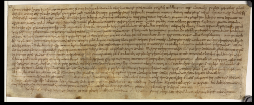 The earliest surviving original letter written in England.