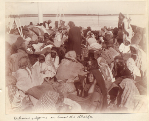 Bahreini pilgrims on board the Khalifa