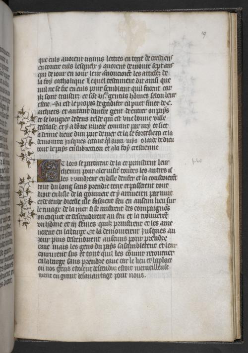 A page from a manuscript of the Conquête et les Conquérants des Iles Canaries.